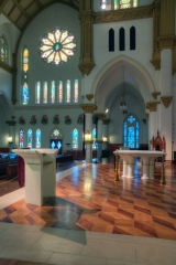 ambo, predella, altar and Bishop's chair