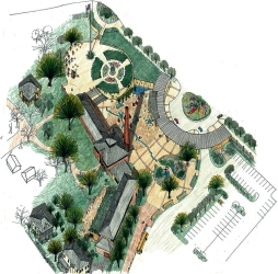rendered master site plan