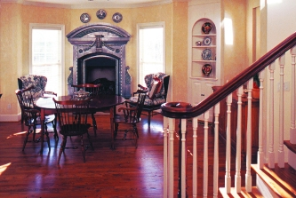 staircase and breakfast room