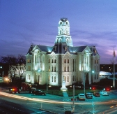 courthouse square at night