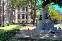 west pocket park and confederate monument