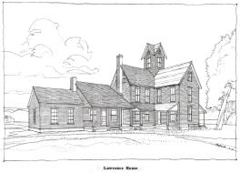 farm house rendering,plastic lead on mylar