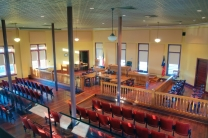 courtroom from the balcony