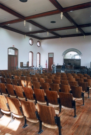 courtroom in pre-hearing