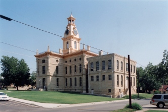 north facade of the courthouse and county clerks addition