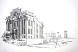 completion rendering, pencil on strathmore board