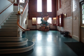 lobby, stair and Water Department Turtle Creek Pump Station Museum
