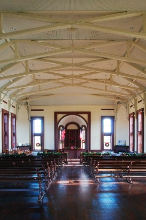 courtroom and bench