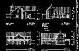 HABS farmhouse drawings, pen and ink on mylar
