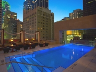 roof deck pool and cabanas
