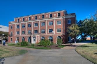 west mall entry facade